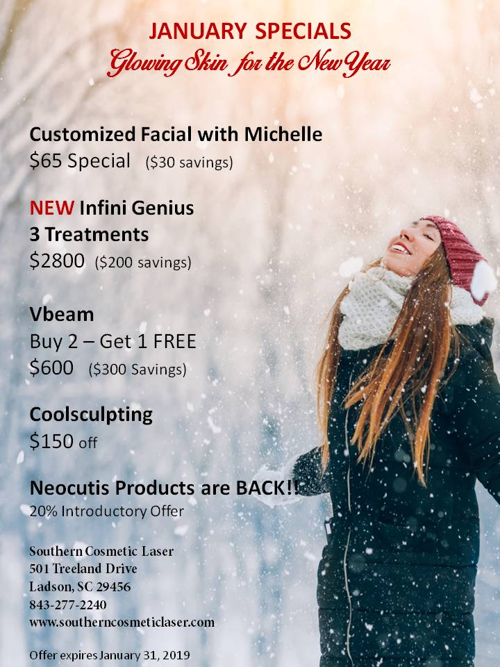 January Specials Charleston Monthly Specials at Southern Cosmetic Laser