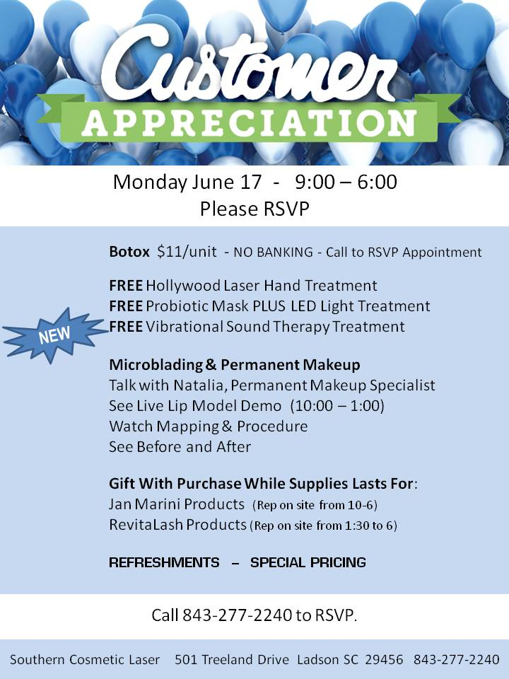 June 2019 Specials Charleston Monthly Specials at Southern Cosmetic Laser