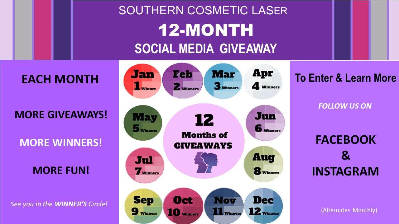 12 Months of Giveaways Southern Cosmetic Laser Charleston
