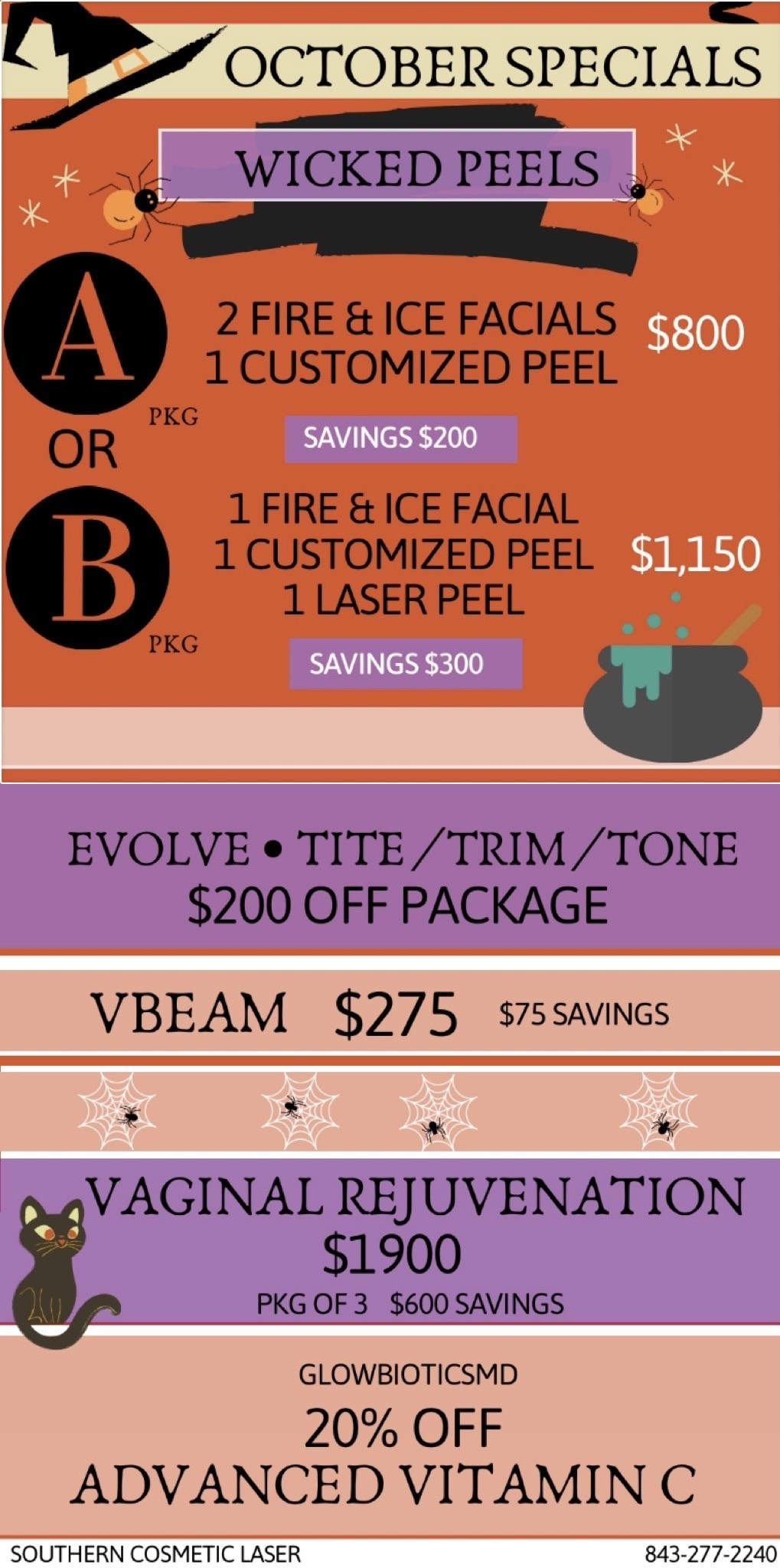 October  Specials Southern Cosmetic Laser