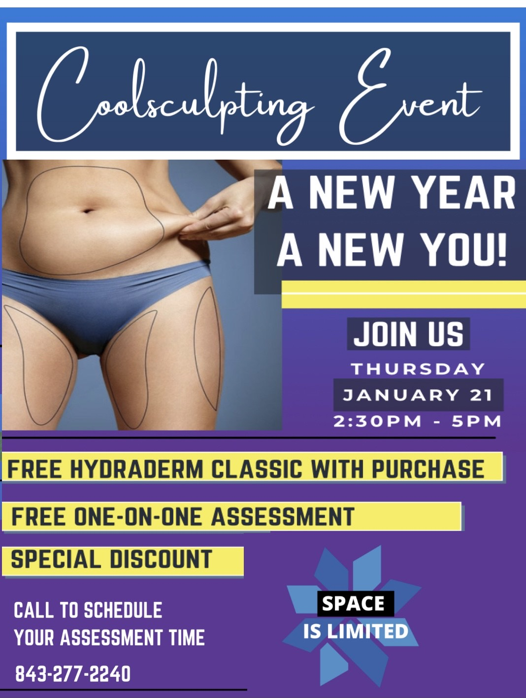 Cool sculpting event Charleston Southern Cosmetic Laser